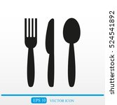 cutlery   knife  fork and spoon ... | Shutterstock .eps vector #524541892