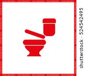 toilet icon vector eps 10. sign ... | Shutterstock .eps vector #524542495