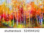 oil painting landscape ... | Shutterstock . vector #524544142