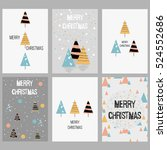 set of christmas cards. with... | Shutterstock .eps vector #524552686