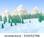 Winter Sunny Landscape  3d...