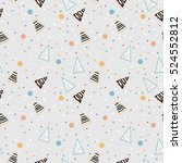 christmas seamless pattern.... | Shutterstock .eps vector #524552812