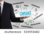compliance concept with young... | Shutterstock . vector #524553682