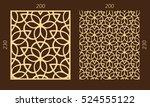 laser cutting set. woodcut... | Shutterstock .eps vector #524555122