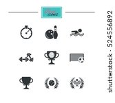 sport games  fitness icons.... | Shutterstock .eps vector #524556892