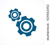 cogwheel and development blue...