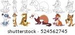 cartoon animal set. collection... | Shutterstock .eps vector #524562745