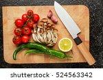Fresh Vegetables On The Cuttin...
