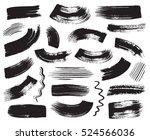 black grunge vector art brush... | Shutterstock .eps vector #524566036