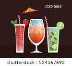 cocktails glasses drink black...