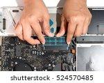 technician install upgrade... | Shutterstock . vector #524570485