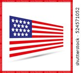 flag of usa icon vector... | Shutterstock .eps vector #524571052