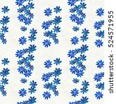 seamless pattern with blue...   Shutterstock . vector #524571955