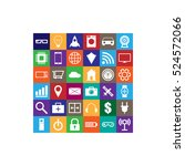internet of things square...   Shutterstock .eps vector #524572066