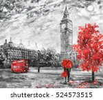 oil painting on canvas  street... | Shutterstock . vector #524573515