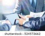 businessman holding digital... | Shutterstock . vector #524573662