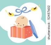 vector illustration of a baby... | Shutterstock .eps vector #52457602