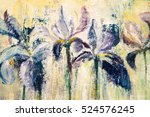 abstract oil painting of lily...   Shutterstock . vector #524576245
