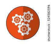 gear wheel engine cog icon...