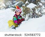 happy kid with helmet on... | Shutterstock . vector #524583772