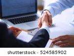 business people shaking hands ... | Shutterstock . vector #524585902