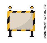 barricade safety maintenance... | Shutterstock .eps vector #524587612