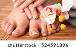 care for beautiful woman legs...   Shutterstock . vector #524591896
