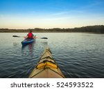 two people kayaking  view from... | Shutterstock . vector #524593522