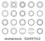 geometric outline logo badges... | Shutterstock .eps vector #524597512