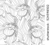 vector seamless pattern with... | Shutterstock .eps vector #524598502
