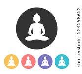 buddha icon. vector illustration | Shutterstock .eps vector #524598652