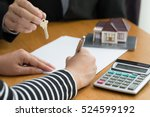 banks approve loans to buy... | Shutterstock . vector #524599192