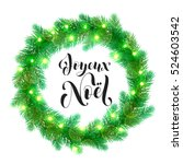 Joyeux Noel Text Lettering And...