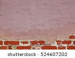 Grunge Red Brickwall With...