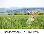 Little Girl In Cornfield With...