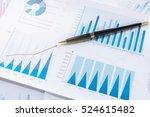 graphs with pen | Shutterstock . vector #524615482