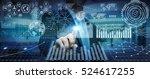 businessman using futuristic... | Shutterstock . vector #524617255