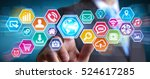 businessman using digital... | Shutterstock . vector #524617285
