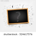 the school board on the... | Shutterstock .eps vector #524617576