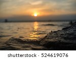 waves crashing in the early... | Shutterstock . vector #524619076
