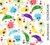 vector seamless pattern with... | Shutterstock .eps vector #524628148