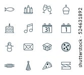 set of 16 christmas icons. can... | Shutterstock .eps vector #524631892