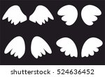 wings collection. vector... | Shutterstock .eps vector #524636452