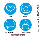 set of icons love  dialogue ... | Shutterstock .eps vector #524636806