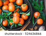 Clementines Fruits With Winter...