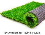 roll of artificial grass mat... | Shutterstock . vector #524644336