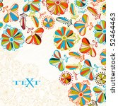 floral background   Shutterstock .eps vector #52464463
