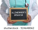 Small photo of Alzheimers disease Alzheimer Alzheimer's ill illness healthy health young doctor with sign