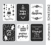 vector set of hand drawn... | Shutterstock .eps vector #524651062
