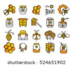 honey and beekeeping  isolated... | Shutterstock . vector #524651902